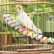 4 Styles Small Birds Toys Pet Toy Accessories Drawbridge Bridge Wooden Singing Cockatiel Parrot Toys(China (Mainland))