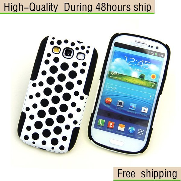 New Silicone TPU Bubble Plastic Hard Back Case for Samsung Galaxy S III S3 i9300 Free Shipping DHL CPAM EMS CPAM HKPAM