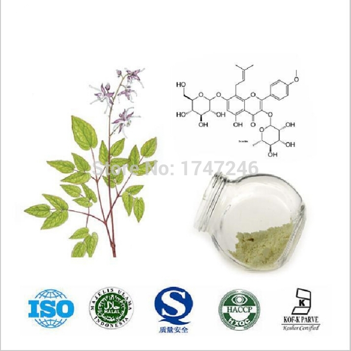 20g Pure Horny Goat Weed/Epimedium Extract Powder, 98% Icariin, Male Health Man Sex Pproducts<br><br>Aliexpress