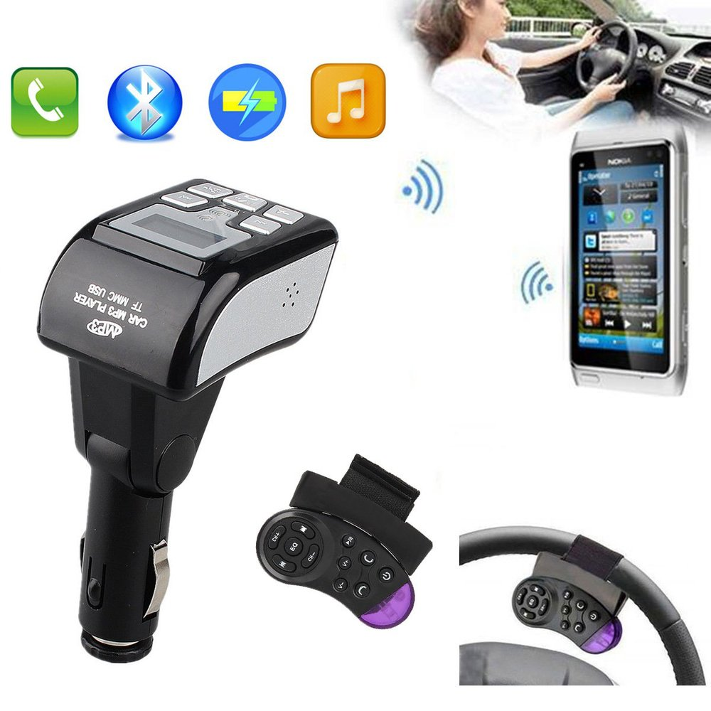 2015 NEW Bluetooth Car Kit Bluetooth MP3 Player Handsfree FM Transmitter Modulator Steering Wheel Control Remote