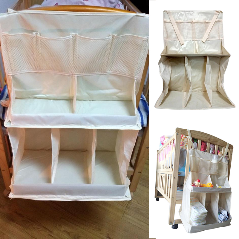 Waterproof Diapers Organizer Baby Bed Hanging Bag Portable Storage Bedding Accessories(China (Mainland))