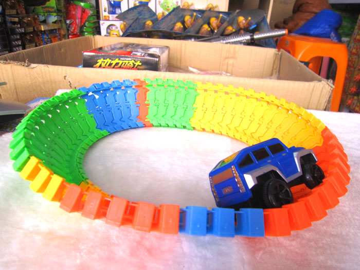 New Christmas Toys For Boys : Diy track car toys electric toy for children boys