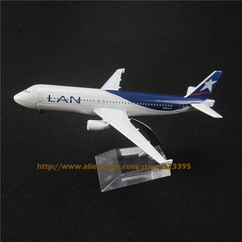 16cm Alloy Metal Air Lan Airways Airlines Airbus 320 A320 CC-CQP Airways Airplane Model Plane Model W Stand Aircraft Toy Gift(China (Mainland))