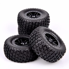 Buy 1/10 Scale Short Course Truck Tires Wheel Rim 902 29001+29504 TRAXXAS SLASH HPI RC Truck Car Model Toys Accessories for $23.09 in AliExpress store