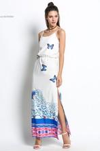 Buy 2016 Casual Sundress Sleeveless High Waist Print Summer Beach Dresses Sexy Spaghetti Strap Side Slit Party Dress Vestido u2 for $14.14 in AliExpress store