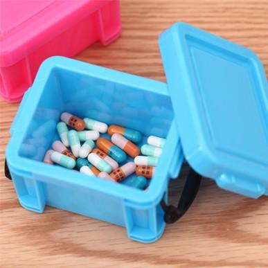 Candy mini receive case Storage box PVC box Jewelry box pill box 8*6*5.3cm free shipping(China (Mainland))