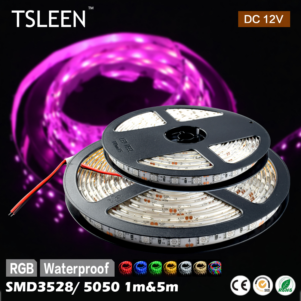 TSLEEN COLORFUL RGB 60 LEDS COOL/WARM WHITE WATERPROOF LED STRIP LIGHT SMD 5050 3528 Lamps Bulbs Home Decor(China (Mainland))