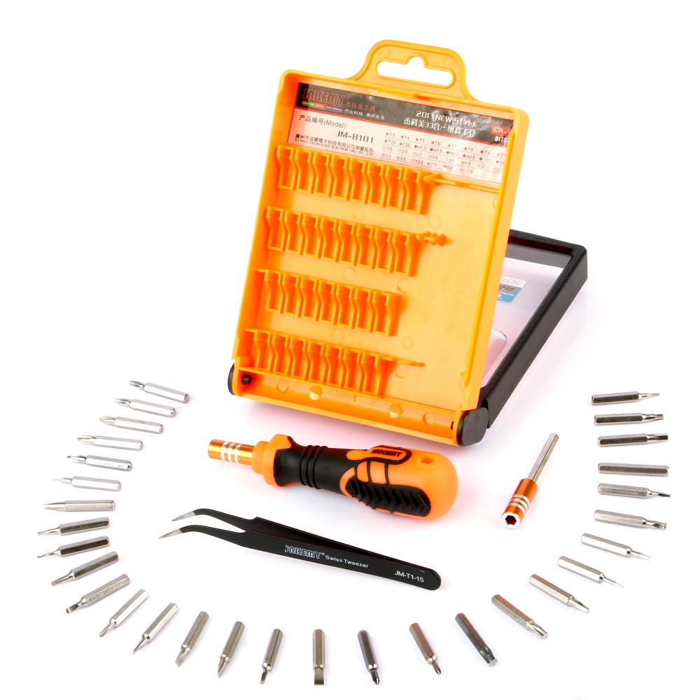 - HTB1LKowNXXXXXakapXXq6xXFXXXC - JAKEMY 32 in1 Multifunctional Precision Screwdriver Set For iPhone Laptop Mini Electronic Screwdriver Bits Repair Tools Kit Set