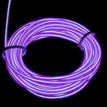 9ft 3M Purple Neon Light Bulb Tube Rope Strobe Flash  Glowing Strobing Electroluminescent Wire (El wire) Party Car Decription(China (Mainland))