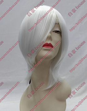 Free shipping cosplay wig high quality white cartoon wig short straight hair  Can be cut and processed<br><br>Aliexpress