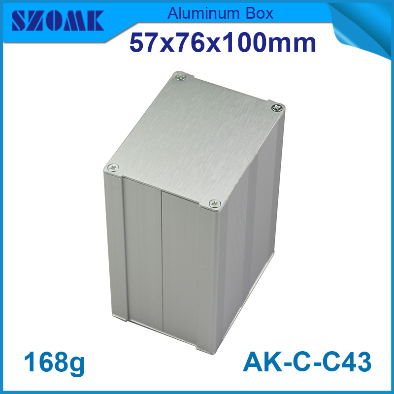 4pcs/lot heatsink aluminium profiles switch housing for industry in silver color with anodizing 57*76*100mm<br><br>Aliexpress