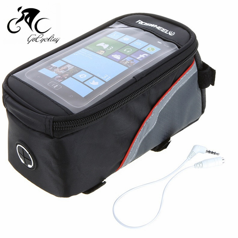 Roswheel 4.2 4.8 5.5Inch Waterproof Cycling Bike Bicycle Bag Front Phone Bag Case Holder Zip Mobile Cell phone(China (Mainland))