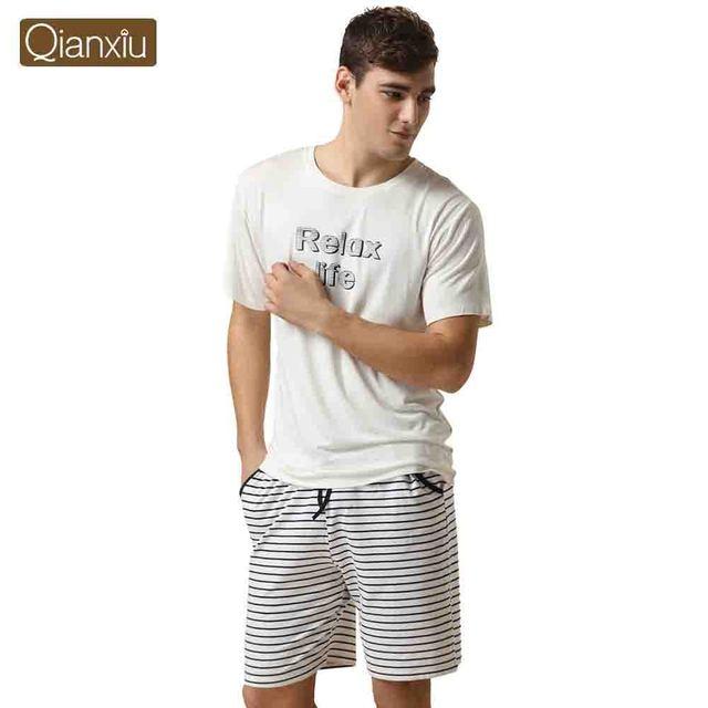 Qianxiu марка Pijamas свободного покроя пижамы мужчин-модальных спортивные брюки ...