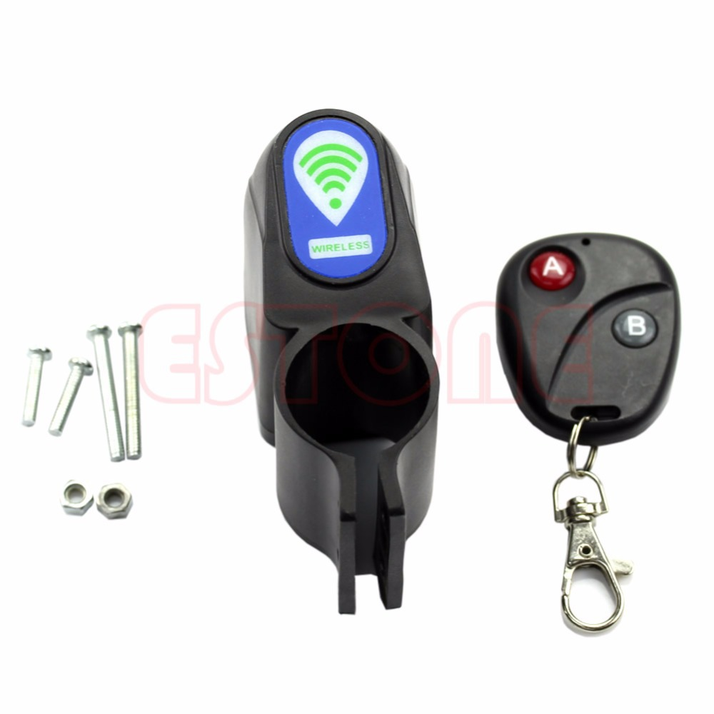 Lock Bicycle Cycling Security Wireless Remote Control Vibration Alarm Anti-theft Free shipping(China (Mainland))
