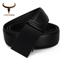 Buy COWATHER luxury top cow genuine leather belt men high mens belts automatic buckle waistband male strap free for $7.93 in AliExpress store