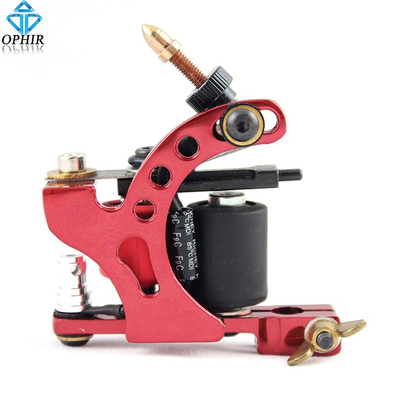 OPHIR Tattoo & Body Art Red Rotary Tattoo Gun Dragonfly Rotary Tattoo Machine 8 Wrap Coil Dual-coiled 6V-10V Shader Liner#TA018C(China (Mainland))