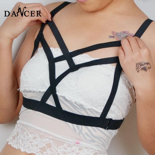 Новая камера бюстгальтер модно сексуальная геометрическая черный спандекс проводов ...