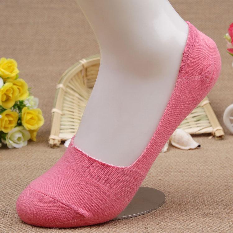 Free Shipping 20pcs=10 pairs/lot Bamboo Fiber cotton Anti-Slip female ankle socks Summer invisible boat socks women anti slip(China (Mainland))