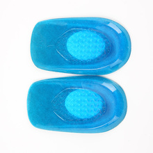 Men Silicone Gel feet Cushion Foot Heel Elastic Care Half Insole Shoe Pad with cloth(China (Mainland))