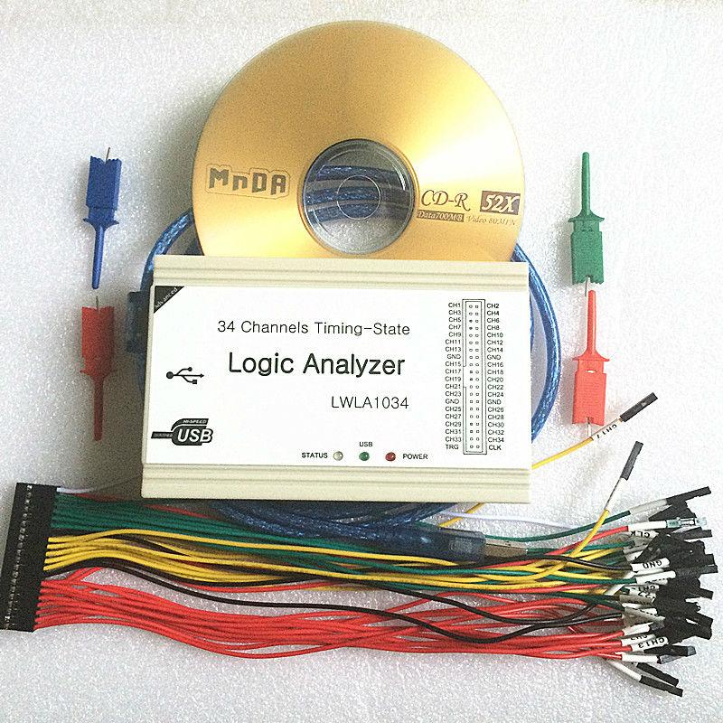 Logic analyzer LWLA1034 Powerful 100MHz 34 channels Timing-State Analyzers - measuring instruments store