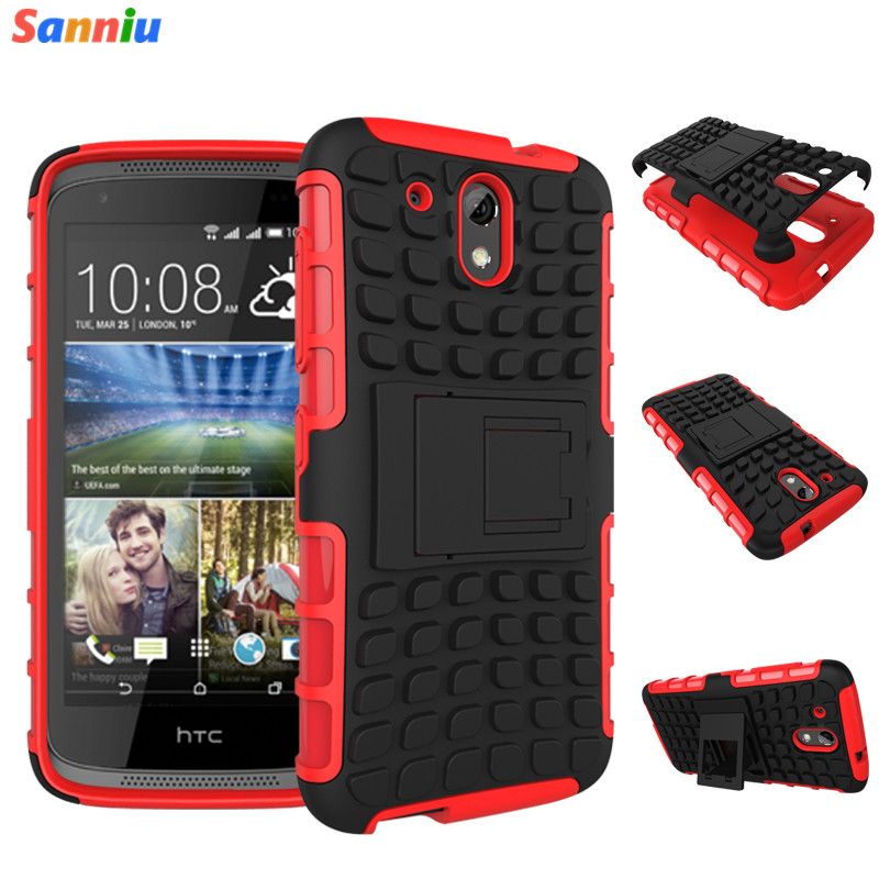 Sanniu Luxury Hybrid TPU Shock Proof Silicone + Hard Shell Cell Phone Case Cover For HTC Desire 526g Dual Sim Case Back Cover(China (Mainland))