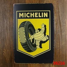 MICHELIN BIBEDUM VINTAGE Tin Sign Bar pub home Wall Decor Retro Metal Art Poster(China (Mainland))