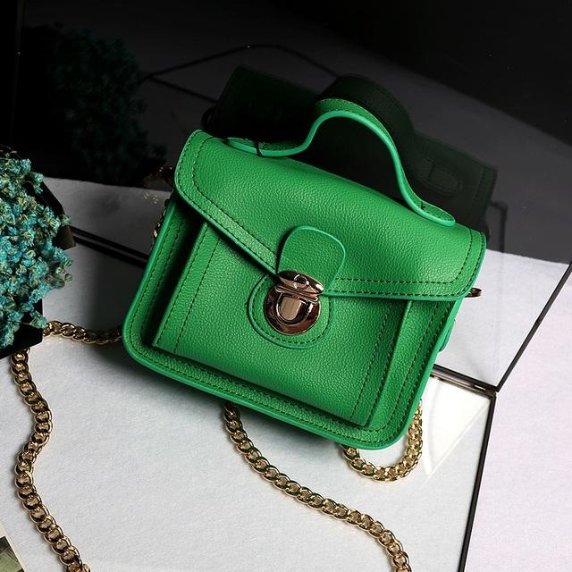 Высокое качество мода кожи цвета конфеты лето свободного покроя сумки мини-цепи сумка женская сумка сумку через тела