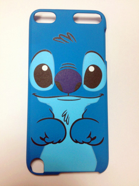 New plastic cartoon stitch hard back case cover fit for ipod touch5 blue dog protector hard shell