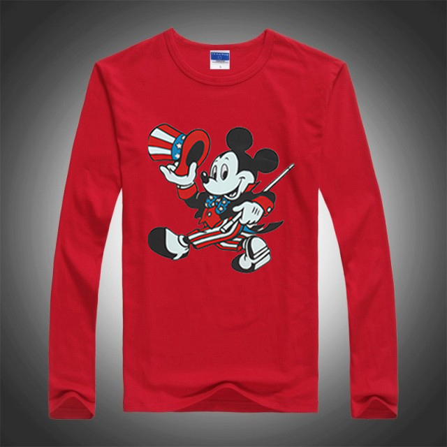2016 New Spring Autumn Children Tees Fashion Mickey Cartoon Mouse Boys Long Sleeve T shirt Kids