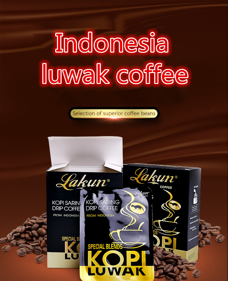 Free shipping lakun kopi luwak coffee tassimo coffee imported from Indonesia 10gx5pcs top quality