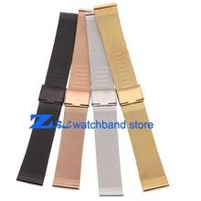 10mm 12mm 14mm 16mm 18mm 20mm 22mm 24mm Black Silver Gold Rose Gold ultra-thin Stainless Steel Mesh  Strap Bracelets Watch Band(China (Mainland))