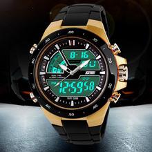 50M Waterproof Mens Sports Watches Relogio Masculino 2016 Hot Men Silicone Sport Watch Reloj S Shockproof Electronic Wristwatch(China (Mainland))