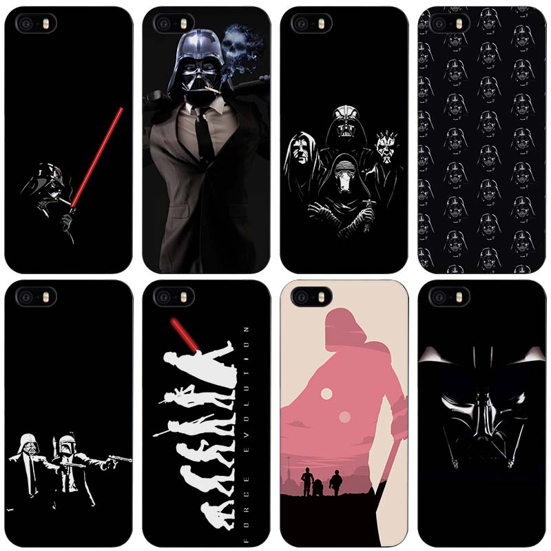 Darth Vader Star Wars Black Plastic Case Cover Shell for iPhone Apple 4 4s 5 5s SE 5c 6 6s 7 Plus(China (Mainland))