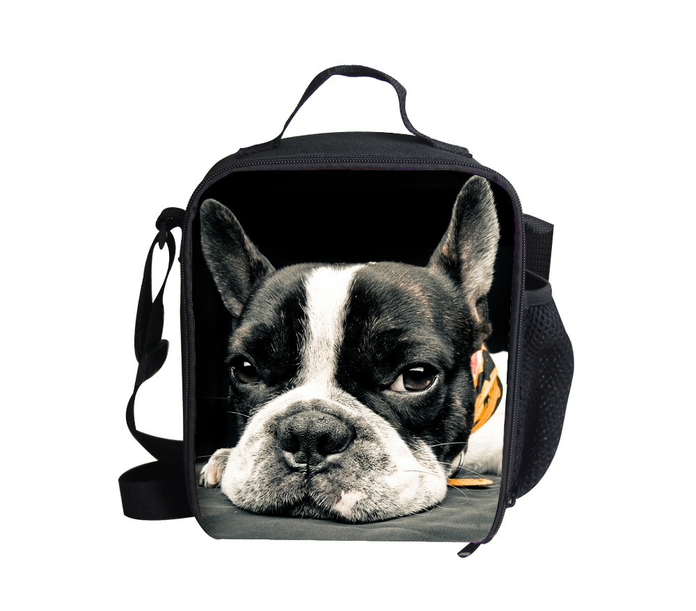 new design children lunch bags 3d animal lunchbox for picnic students school food bag cute pet dog thermal lunch box lancheira(China (Mainland))