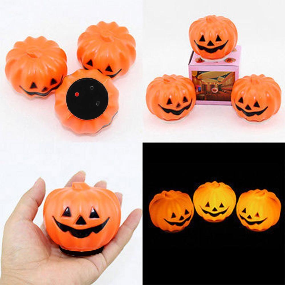 1 pcs Halloween Carnival Party Jack-O-Lantern LED Pumpkin Night Light Decoration Props(China (Mainland))