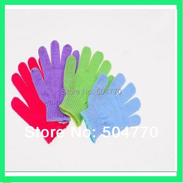 5pcs Moisturizing Spa Bathwater Scrubbing Bath Exfoliating Gloves For showering(China (Mainland))