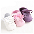 2016 Spring Baby Girl Shoes PU Leather Solid with Tassel Toddler Soft Bottom New Infant Children