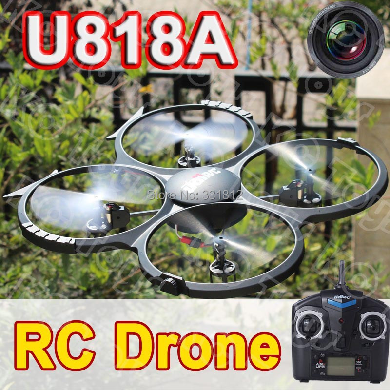 Free shipping U818A RC helicopter UFO can 3D Flip 2.4G 4ch 6 Axis Drone RC quadcopter with camera 2GB Sandisk(China (Mainland))