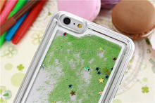 Fashion star sand for iPhone6 5.5 case meteor flash transparent shell