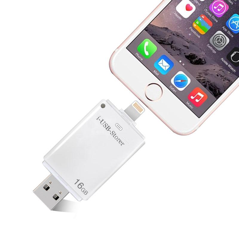 For Lightning flash drive 8gb 16gb 32gb Usb Pen Drive 6 Language Otg Usb Flash Drive For iPhone 5/5s/6/6s Plus/ipad memory drive(China (Mainland))