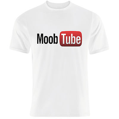 'MOOBTUBE' funny Youtube parody internet Twitter Facebook men's T-Shirt(China (Mainland))