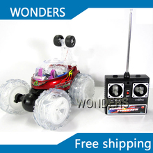Rechargeable dump trucks  Dancer RC Stunt Car tumble car 360 degree rotation with music(China (Mainland))