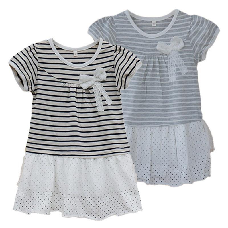 Cute Bowknot Girls Dress Baby Girls Dresses Princess Girl Dress Spring Summer Sun Dresses Children Clothing Summer Kids Clothes(China (Mainland))