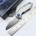2016 OEM ZT0456 Flipper folding knife bearing 204P blade Titanium handle outdoor Survival camping hunting pocket