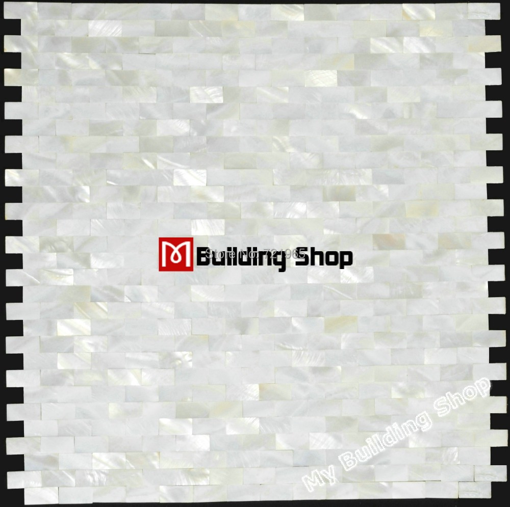 Brick sea shell kitchen backsplash tile white mother of pearl tiles backsplash MOP007 bathroom wall tiles mother of pearl mosaic(China (Mainland))