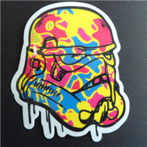 2016 new style Free shipping 8 kind star wars waterpoof UV proof car fuel cap creative sticker, car styling(China (Mainland))