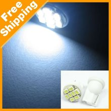 Free shipping wholesale&special offer 100pcs/lot led auto T10 8 SMD white light lamp(China (Mainland))