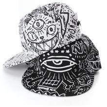 hip hop baseball cap snapback hats for men women,3 eyes cat demon print bone cap fitted snap back,gorras planas hombre,casquette(China (Mainland))