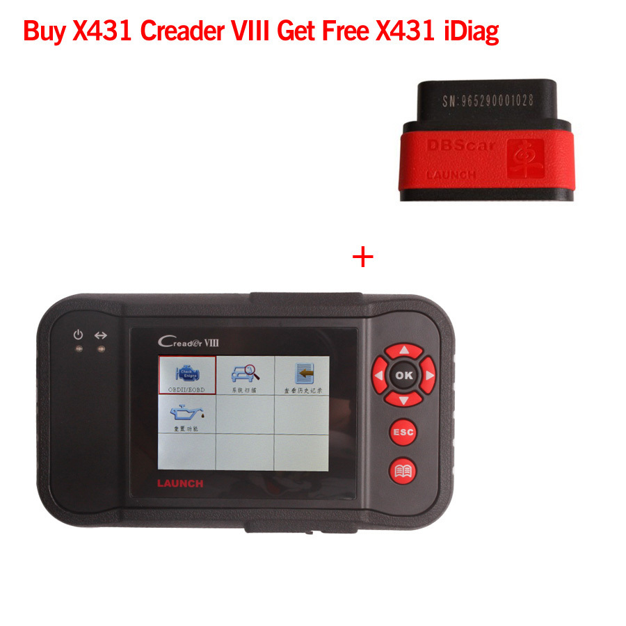 Buy Launch X431 Creader VIII Get Free X431 iDiag ( Christmas Free Gift) Free Shipping(China (Mainland))