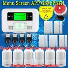 Smart APP Menu LCD Security Alarm Systems
